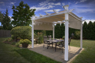 New England Arbors Malibu Pergola Decorative Beach Club Pergola VA42057