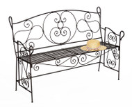 Achla Ferro Firenze Bench Decorative Garden Bench AR-27
