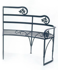 Achla Lutyen II Bench with Right Arm Rest Decorative Garden Bench AR-05R