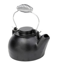 Achla Minuteman 2.5 Quart Cast Iron Humidifying Teapot Kettle T-16-BB