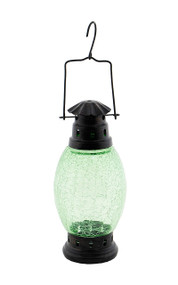 Achla Crackle Glass Lantern Fern Green  CRL-01LG