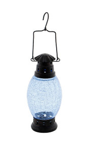 Achla Crackle Glass Lantern Cool Blue  CRL-01BLL