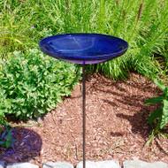 Achla Cobalt Blue Crackle Bowl w/ Stand  CGB-S-14CB