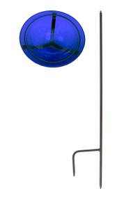 Achla Cobalt Blue Crackle Bowl with stand Bird Bath GBB-01