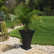 Mayne Bordeaux Tall Planter Black 5864-B