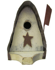 Bird-N-Hand Distressed Wood Mailbox Birdhouse Decorative Bird House SM23