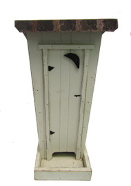 Bird-N-Hand Distressed Wood Outhouse Bird Feeder Decorative Birdfeeder BF4