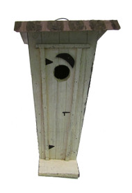 Bird-N-Hand Distressed Wood Outhouse Birdhouse Decorative Bird House SM35