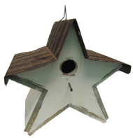 Bird-N-Hand Distressed Wood Star Birdhouse Decorative Bird House SB1