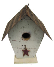 Bird-N-Hand Distressed Wood Stargazer Birdhouse Decorative Bird House SM24