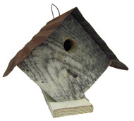 Bird-N-Hand Distressed Wood Wren House Birdhouse Decorative Bird House SM11