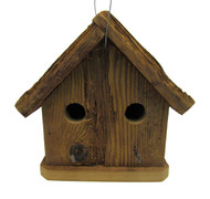 Bird-N-Hand Natural Wood The Condo Birdhouse Decorative Bird House RBH34
