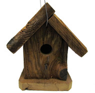 Bird-N-Hand Natural Wood Small Rustic Birdhouse Decorative Bird House RBH33