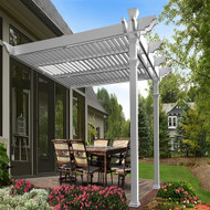 New England Arbors Elysium 12 x 12 Attached Louvered Pergola VA42072