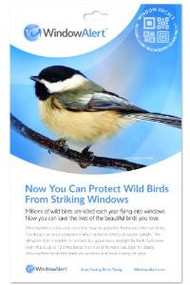 Window Alert Modern Square Decal Prevent Bird Strikes 4 per package ( WINDA10)
