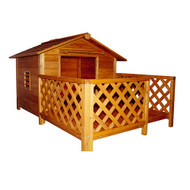 Merry Pet The Mansion Wood Dog House Pet Shelter MPL002