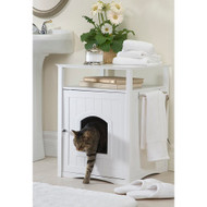 Merry Pet Cat Washroom White Litter Box Cover MPS006