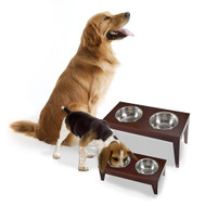 Merry Pet Dog Cat Pet Feeder Large Food and Water Bowls PTF0012020800