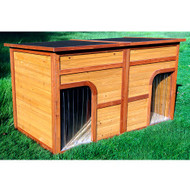 Merry Pet Flat Top Duplex Decorative Dog House PTH0330012012