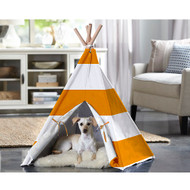 Merry Pet Cat Dog Pet Orange Stripe Medium Teepee PTP0010202200