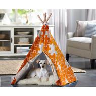 Merry Pet Cat Dog Pet Orange Puzzle Medium Teepee PTP0030203200