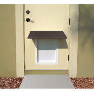 PlexiDor Performance Pet Door Dog Door AWNING MEDIUM BR BRONZE