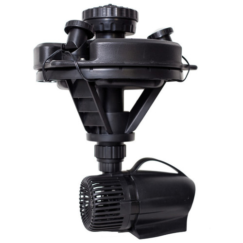 Pond Boss DFTN12003L 1/4 HP Floating Fountain With 3 Foutain Heads and 3 LED Lights (DFTN12003L)