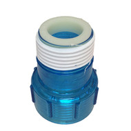 Aqua Ultraviolet Aqua Ultraviolet Quartz Sleeve Cap and UV Bulb Cap w/ Ring, Clear Blue Plastic A40011