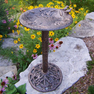 Oakland Living Hummingbird Bird Bath Antique Pewter Finish 5131AP