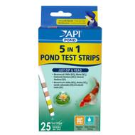 API Pond Care Pond 5 in 1 Pond Test Strips 25 Stripe Count API 164 F