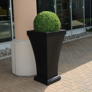 Mayne Bordeaux 40 Inch Tall Planter Black 8802-B