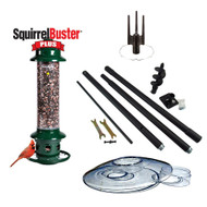 Brome Squirrel Buster Plus Squirrel Proof Bird Feeder with Pole and WeatherGuard Baffle