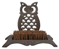 BEST FOR BIRDS Owl Boot Brush Antique Brown BFBTT192