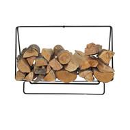 Enclume Indoor/Outdoor Medium Black Powder Coat Rectangular Fireplace Log Rack LR37BK