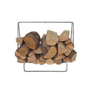 Enclume Indoor/Outdoor Small Silver Hammered Rectangular Fireplace Log Rack LR36SH