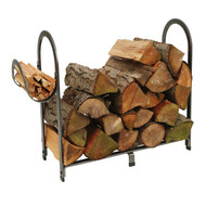 Enclume Arch Fireplace Log Rack Hammered Steel LR3HS