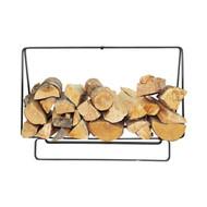 Enclume Indoor/Outdoor Rectangle Fireplace Log Rack Hammered Steel lr1b-hs-cl