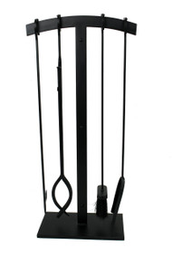 Enclume Habitat 4 Pc Arch Top Fireplace Tool Set Black hfpts3-bk