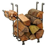 Enclume Rectangle Fireplace Log Rack Hammered Steel lr1b
