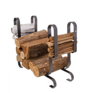 Enclume Large Modern Fireplace Log Rack Hammered Steel lr19a HS