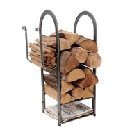 Enclume Fire Center Log Rack Hammered Steel lr12b