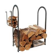 Enclume Large Fire Center Log Rack Hammered Steel lr12A