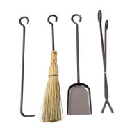 Enclume Long Fireplace Tools Only 4-Pieces Hammered Steel ft-set-wt