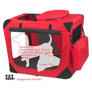 Pet Gear Generation II Sift Crate with Pad and Treat Bag Red Poppy PG5526RP