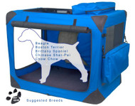 Pet Gear Generation II Sift Crate with Pad and Treat Bag Blue Sky PG5536BS