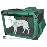 Pet Gear Generation II Sift Crate with Pad and Treat Bag Moss Green PG5542MG