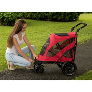Pet Gear Excursion NO-ZIP Pet Stroller Candy Red PG8650NZCR