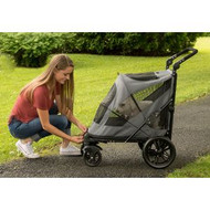 Pet Gear Excursion NO-ZIP Pet Stroller Dark Platinum PG8650NZDP