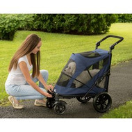 Pet Gear Excursion NO-ZIP Pet Stroller Midnight Blue PG8650NZMB
