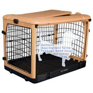 "Pet Gear ""The Other Door"" Steel Crates, Pad and Carry Bag TAN/BLACK PG5927TN"
